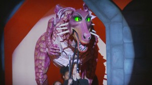 The dragon scene from Shrek the Musical
