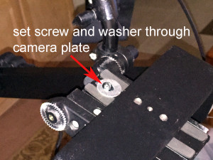 set screw and washer through camera plate